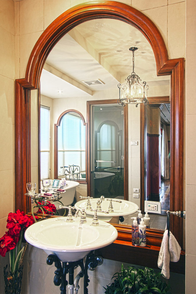 Mirror at a private house