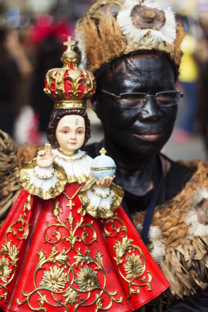 Sto Nino devotee udring the Ati-atihan Festival in Kalibo